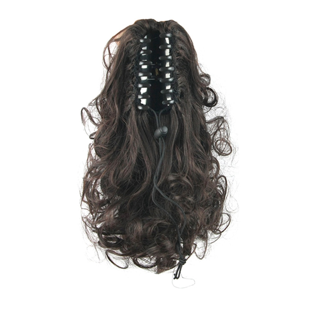 Soowee Curly Hair Claw Ponytails Synthetic Hair Hairpiece Pony Tail Clip In Hair Extensions Headwear Accessories for Women