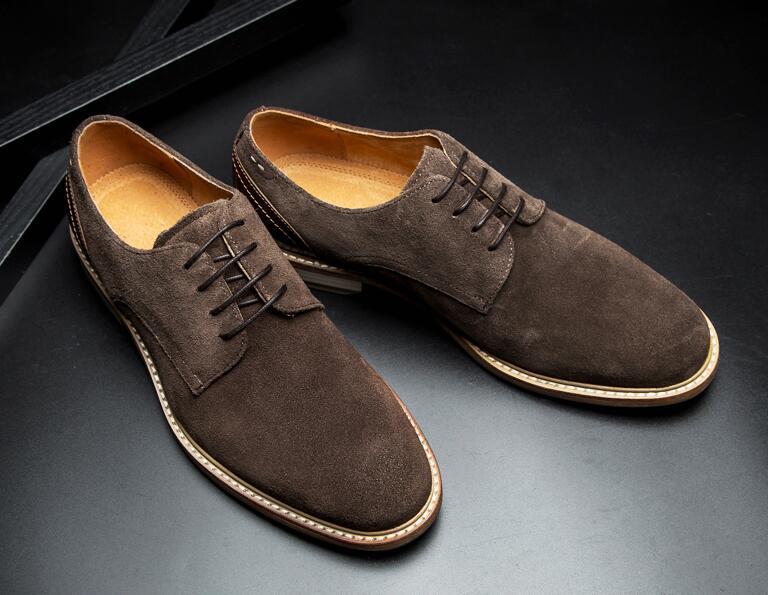 Zapatos Derbi para hombres de cuero genuino patchwork formal de los hombres de negocios Zapatos de vestir zapatos de cuero vintage inteligente oxfords Casuales