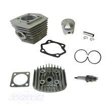 Cylindre et tête de cylindre et Piston   2 bougies électriques adaptées au moteur 80cc vélo motorisé