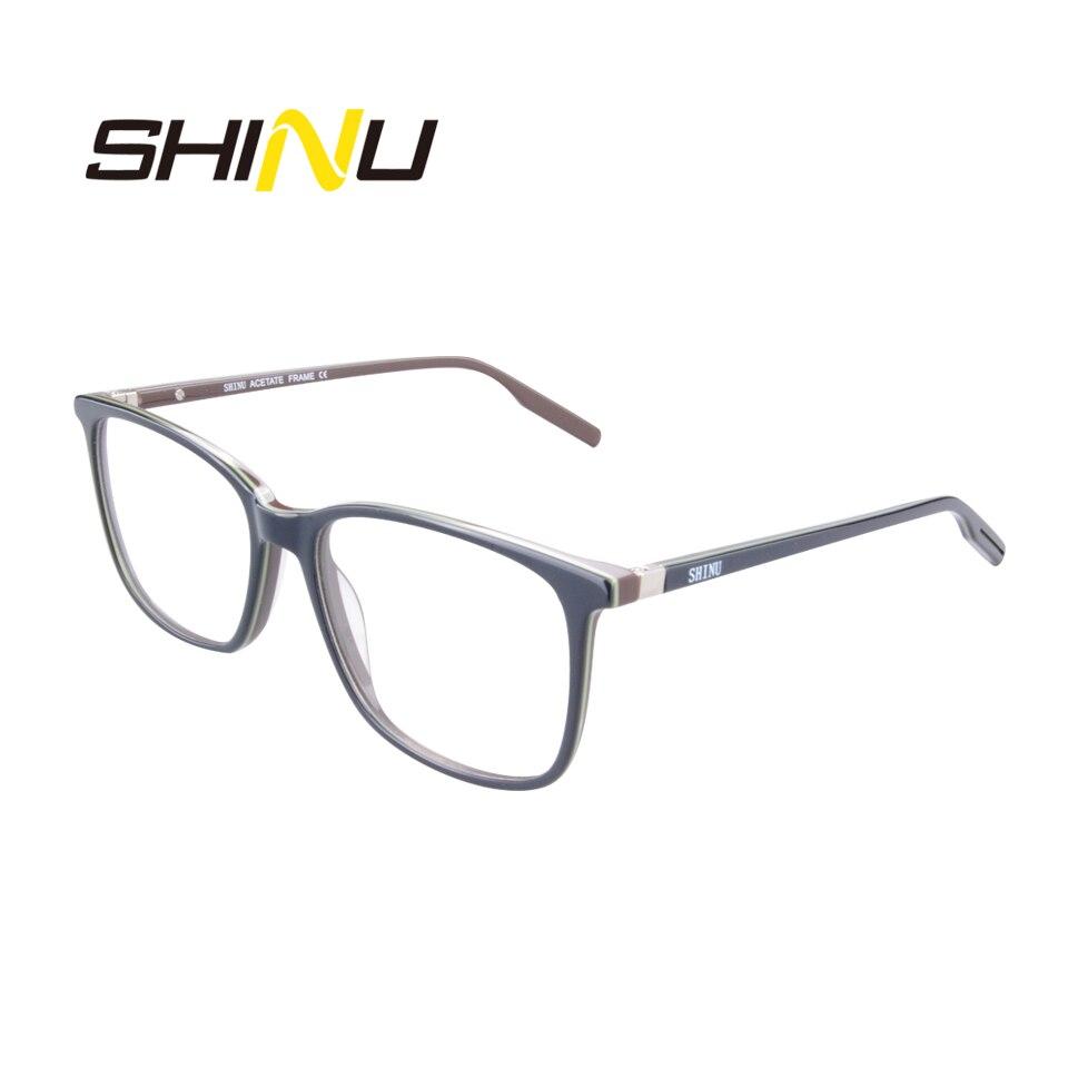 Shinu marca azul ray bloqueando óculos de leitura noline mutifocal progressivo óculos de leitura anti-radiação presbiopia eyewear