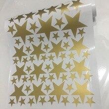 163pcs/set Mixed Size 3-9cm Cartoon Gold Starry Wall Sticker For Kids Child Rooms Decoration Art Mural Cute Stars Wall Decals