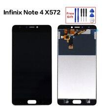 5.7 Para infinix X572 Nota 4 Display LCD + Touch Screen Digitador Substituição display LCD Completo para infinix Note4 x572
