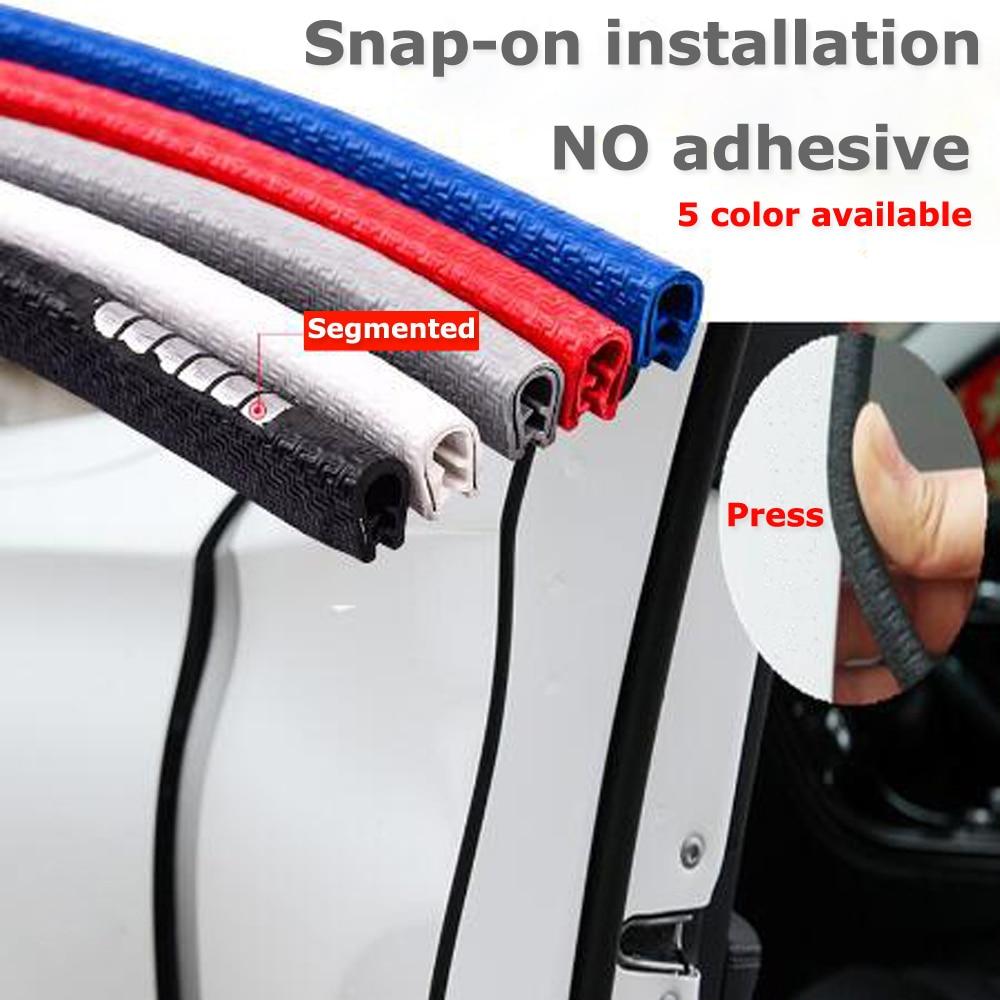 Mejora 5M protección de borde de puerta de coche tiras pegatinas coche estilo molduras goma Protector de puerta Anti colisión tiras arañazos