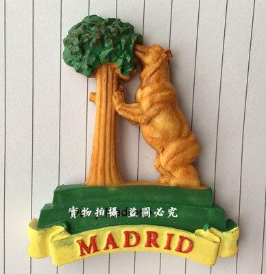 Pegatinas de nevera de recuerdos de España y Madrid
