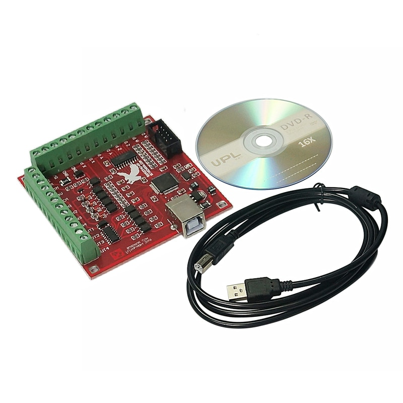 MACH3 4 axis cnc router 100KHz USB Smooth Stepper Motion Controller card breakout board wood carving machine tools 4 axis cnc breakout board parallel stepper motor driver module lv8727