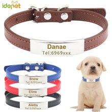 Collier détiquette personnalisé pour chien   Colliers didentification pour chiot chat, réglables pour petits chiens gravés 30