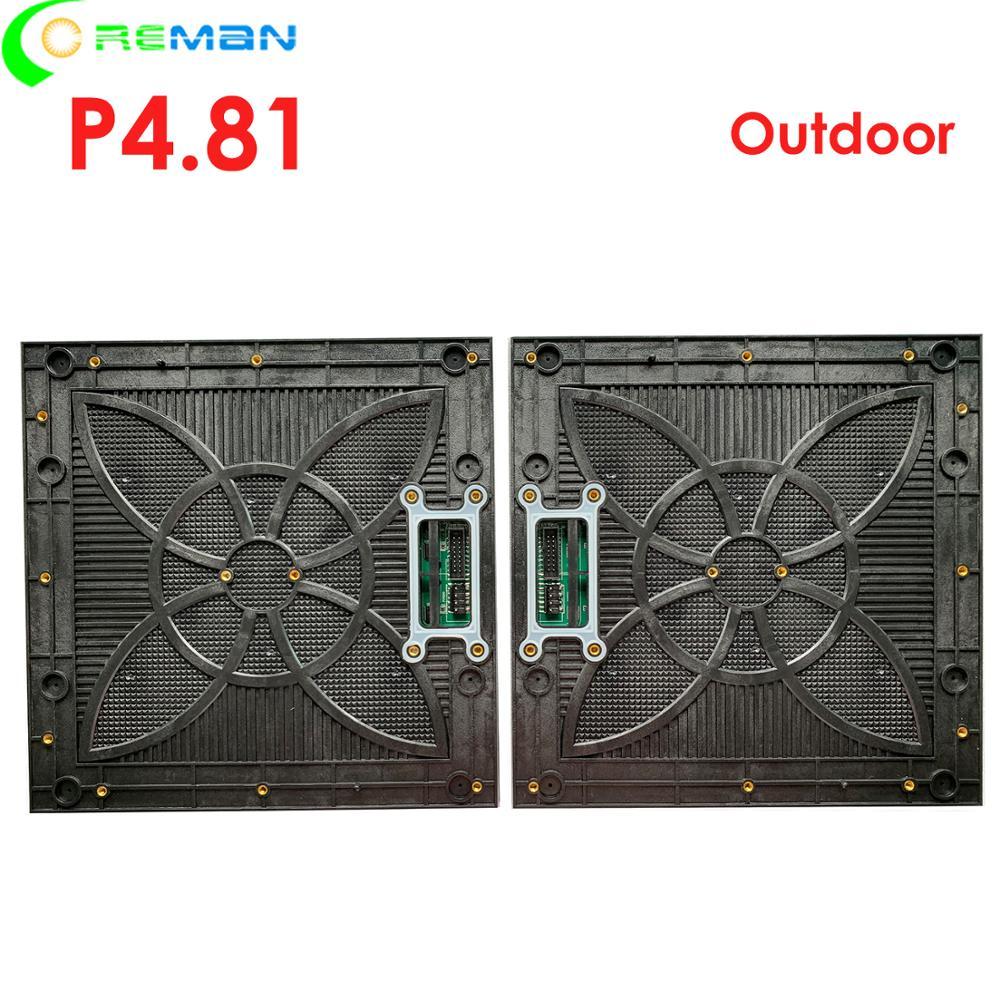 Aliexpress índia imagem de vídeo ao ar livre conduziu o módulo para o grande ecrã led, gabinete display led p4.81 levou módulo levou componentes preço