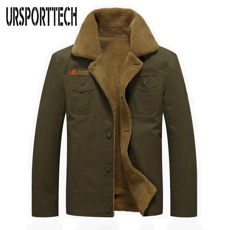Inverno 2018 nova jaqueta casual algodão super grande plus veludo grosso uniforme militar camisa roupas masculinas tamanho 5xl