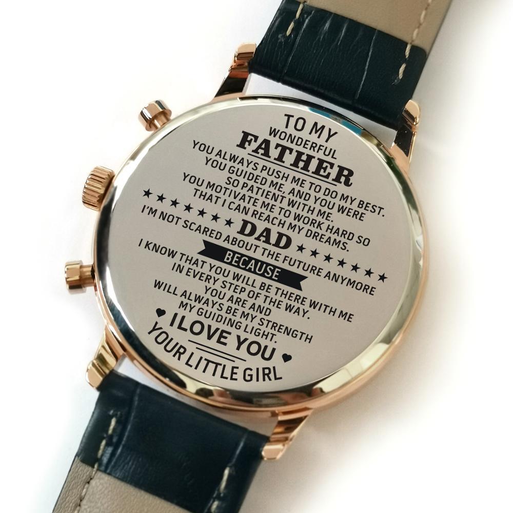 Relógio de Couro Presentes da Filha 4300-1 para Meu 30m à Prova Herói Moda Luxo Dwaterproof Água Cinta Aniversário Militar Pai Meu