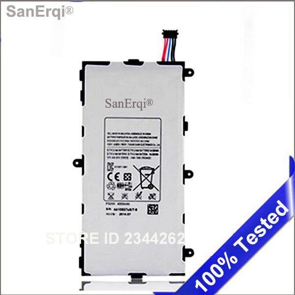 T4000E SanErqi 50 יח'חבילה Tablet סוללה עבור Samsung GALAXY Tab 3 7.0 T210 T211 T2105 T217A P3200 LT02 סוללות 4000mA