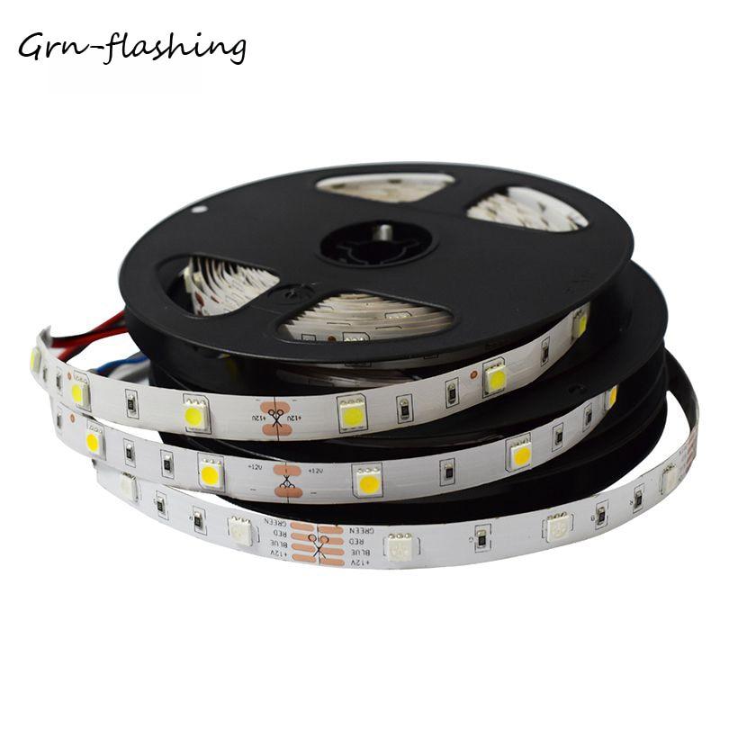 GRN-FLASHING SMD 5050 LED strip light DC12V 30LED/M 5M led flexible ribbon tape for indoor decoration light RGB,White,Blue,Red