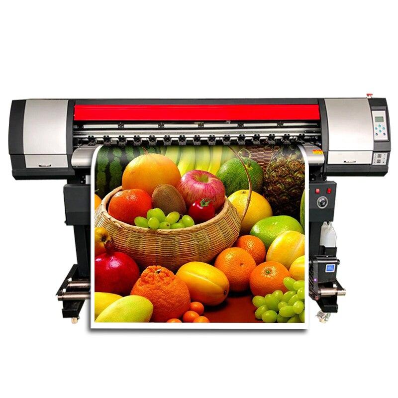Precio al por mayor 1,6 m impresora cartel vinilo gran formato 160cm Eco solvente tinta Jet máquina de impresión para cartel PVC Banner
