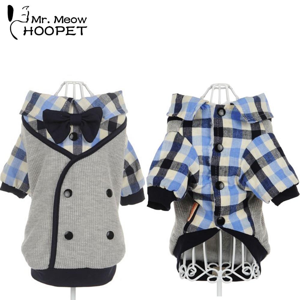 Cachorro macio roupas para animais de estimação macio casual xadrez camisa ocidental roupas casaco de cachorro + gravata de casamento
