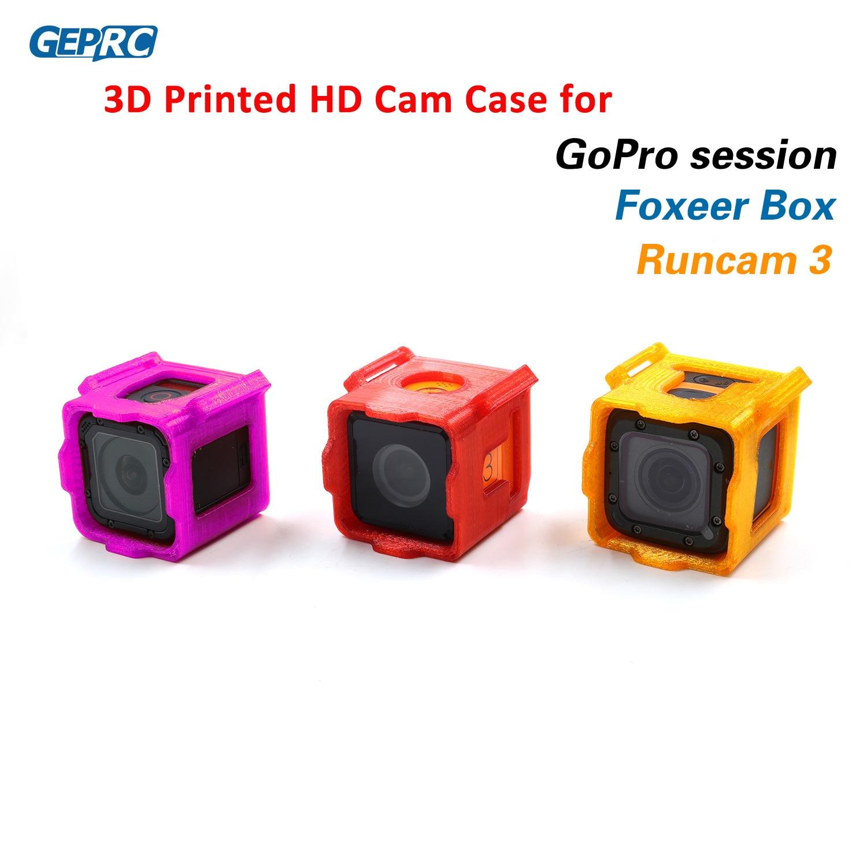 GEPRC 3D impreso TPU soporte de montaje fijo para Runcam 3/Foxeer Box/Gopro sesión HD acción Cam Dron de carreras con visión en primera persona DIY piezas 4 colores