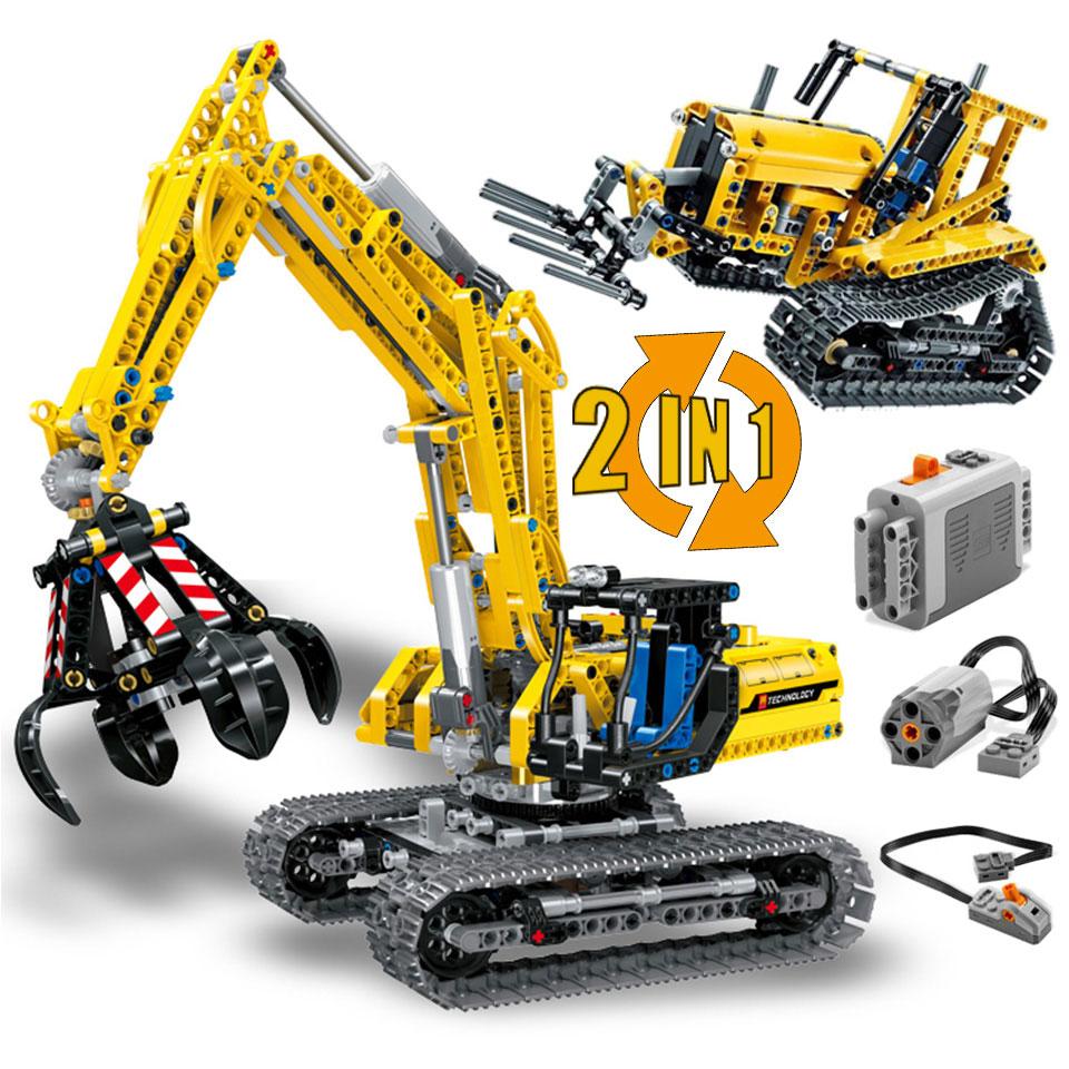 Excavator Compatible Technic 42006 Truck Model Building Blocks 720 Piece Bricks Boy Birthday Gift Toys For Children
