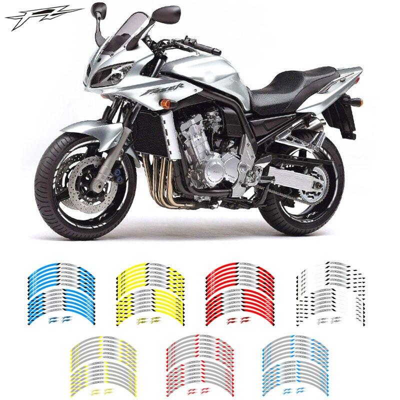 Novedad, gran calidad, 12 Uds., ajuste adhesivo para rueda de motocicleta, borde reflectante a rayas para Yamaha FZ1 FZ6 FZ-07 FZ8 FZ-09 FZ-10 FZS1000