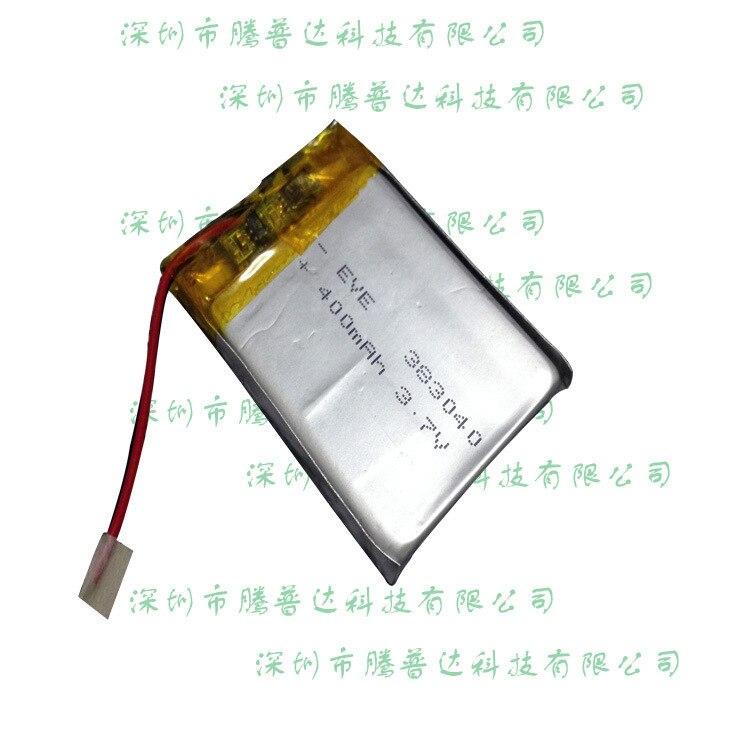 3,7 V 383040 tarjeta Bluetooth auriculares built-in polímero litio batería altavoz portátil 400 mA