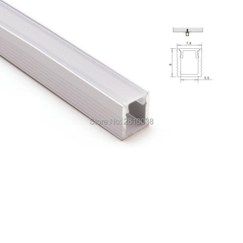 Juegos 100X 1 M/lote superfino Perfil de aluminio led y perfil led de aluminio tipo U para luces de pared o de tierra