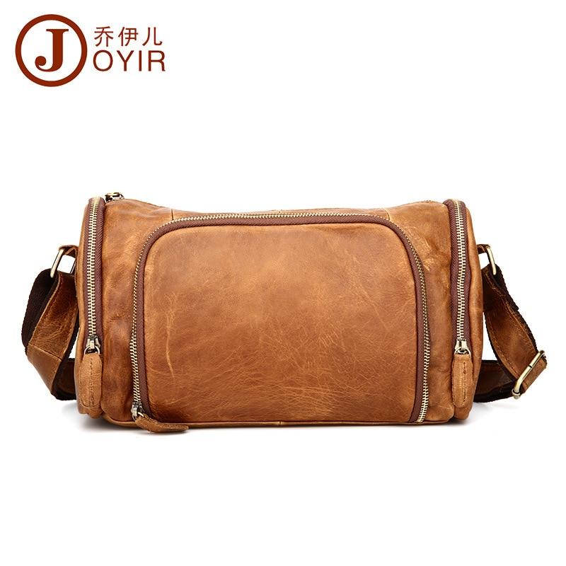 Top Cowboy 100% Fashion Genuine Leather Men Messenger Bag Vintage Design Pillow Bags men horizontal casual Travel Crossbody bags