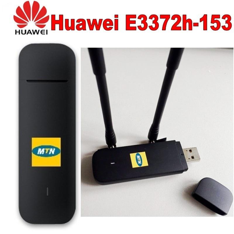 Huawei e3372 e3372h-153 4G LTE USB Dongle USB Stick Datacard мобильный широкополосный USB модемы плюс 2 шт антенна