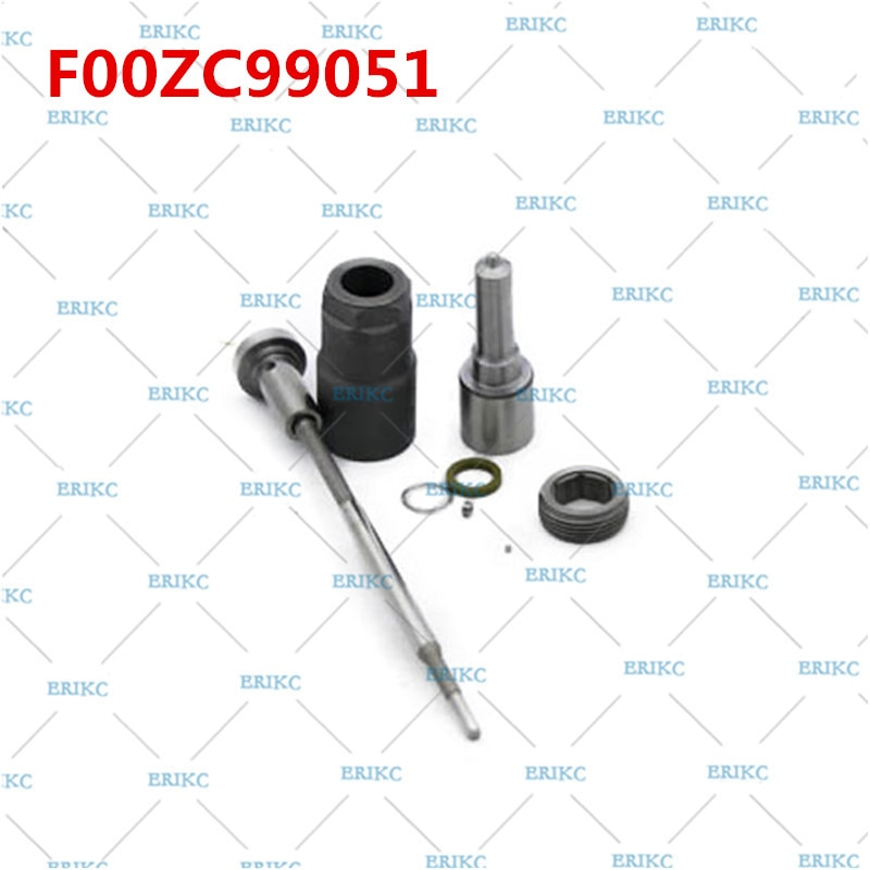 Kit de reparación de sello de motor diésel Erikc F00zc99051 boquilla Dlla156p1368 + f00vc01033 Kit de reconstrucción de válvula para Hyundai 0445110279