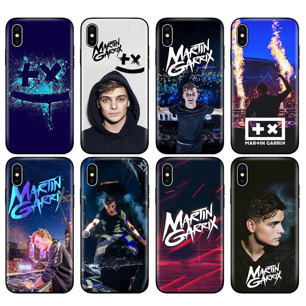 Schwarz tpu fall für iphone 5 5s SE 2020 6 6s 7 8 plus x 10 fall abdeckung für iphone XR XS 11 pro MAX DJ Martin Garrix Musik hinweis