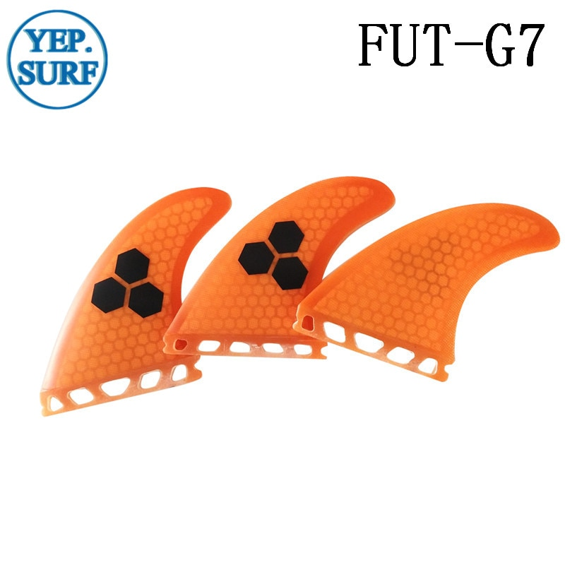 Single Tabs L Surfing Fins Fiberglass Honeycomb Orange Color Fins Customized Fins Surfboard Single Tabs Fins free shipping surfboard fins high quality honeycomb future fins in surfing quilhas fins