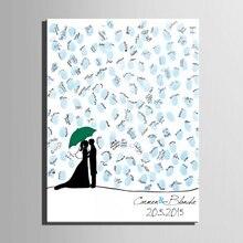 Peinture en toile cadeaux de mariage pour invités   Tableau personnalisé, pour Signature à lempreinte de larbre, peinture damant, livre dor pour mariage