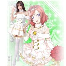 Amour Live Maki Nishikino Cosplay Costumes Lolita robe de mariée Costume pour femmes robe blanche Kawaii Costume Lolita mignon Cosplay