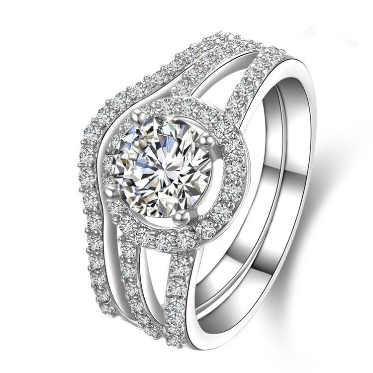 vintage-design-1ct-moissanite-engagement-ring-with-wedding-band-pure-18k-white-gold-last-forever-2-rings-combine-perfect-match