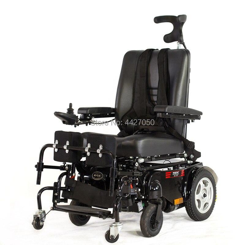 Faça em china melhor preço dobrável cadeira de rodas elétrica permanente para desativar e mais velho