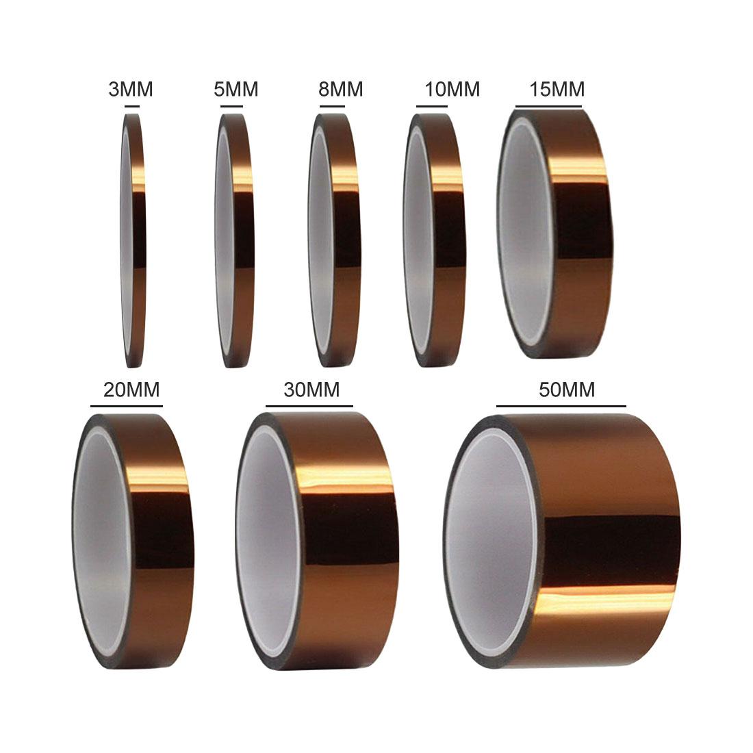 Cinta de calor de alta temperatura de 33M, cinta de aislamiento térmico, cinta adhesiva aislante de poliimida, protección de Placa de impresión 3D