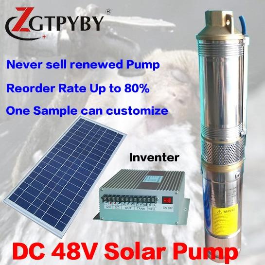 3FLD3-35-48-300 2 años de garantía bombas de pozos solares de baja presión hecho en china kit de Bomba de piscina solar