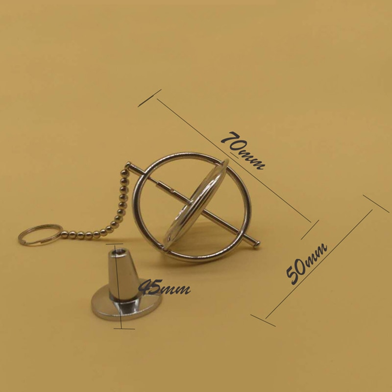 Metal Machinery Gyroscope Anti-gravity Tumbler Gyro Copper Spinner Fingertip Finger Gyro Spiral Desktop Anti Stress Toy enlarge