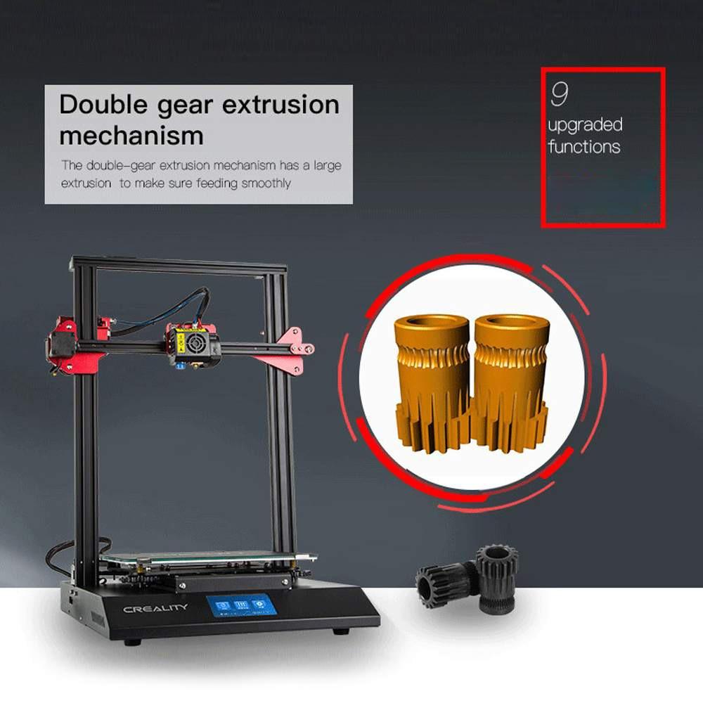 Creality CR-10S PRO 3D impresora táctil LCD Auto Sensor de nivelación de la impresora de la detección del filamento de la impresión de la hoja de vida Funtion MeanWell Power