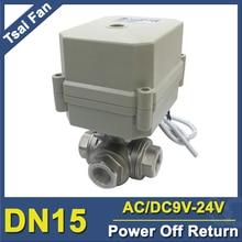 TF15-S3-C Válvula de retorno de 3 vías BSP/NPT 1/2 DN15 de fallo de energía Puerto T/L CA/DC9-24V puede reemplazar la válvula solenoide IP67/CE