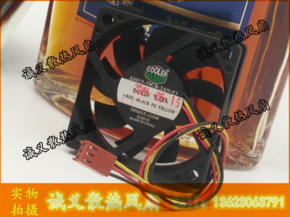 Para refrigerador mestre A6015-39CB-3AN-F3 DF6015-12SM 6 cm 6015 ventilador 3pin
