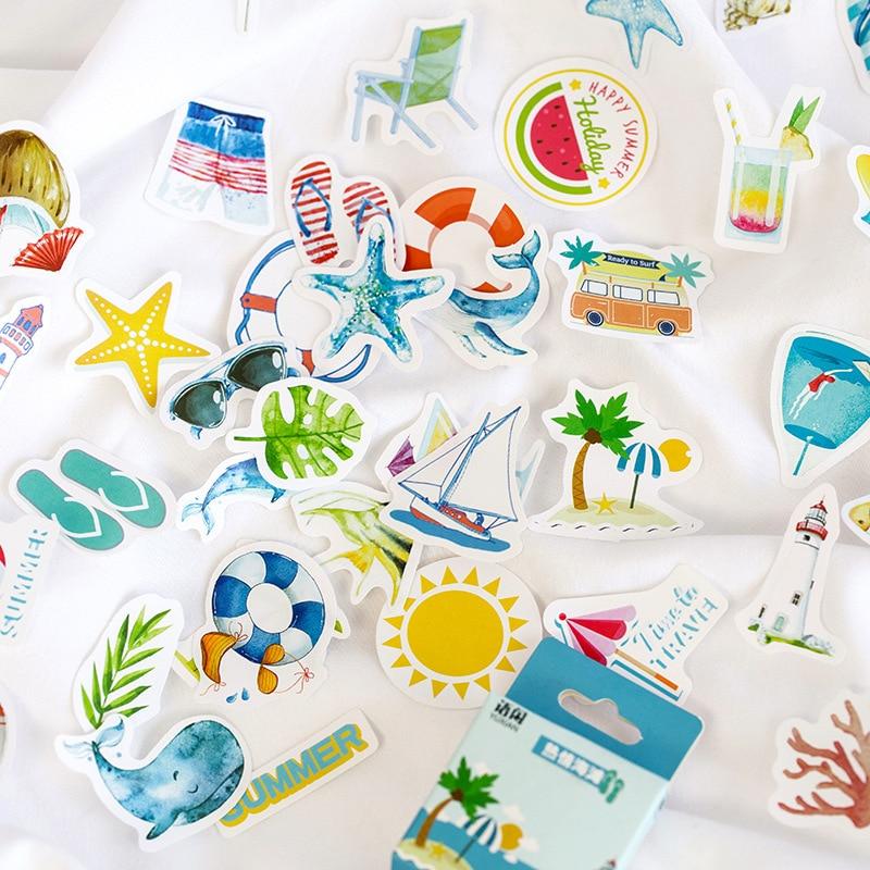 50-pz-pacco-sveglio-di-estate-serie-gelato-spiaggia-di-carta-di-frutta-del-computer-sticker-decor-scuola-studente-di-cancelleria