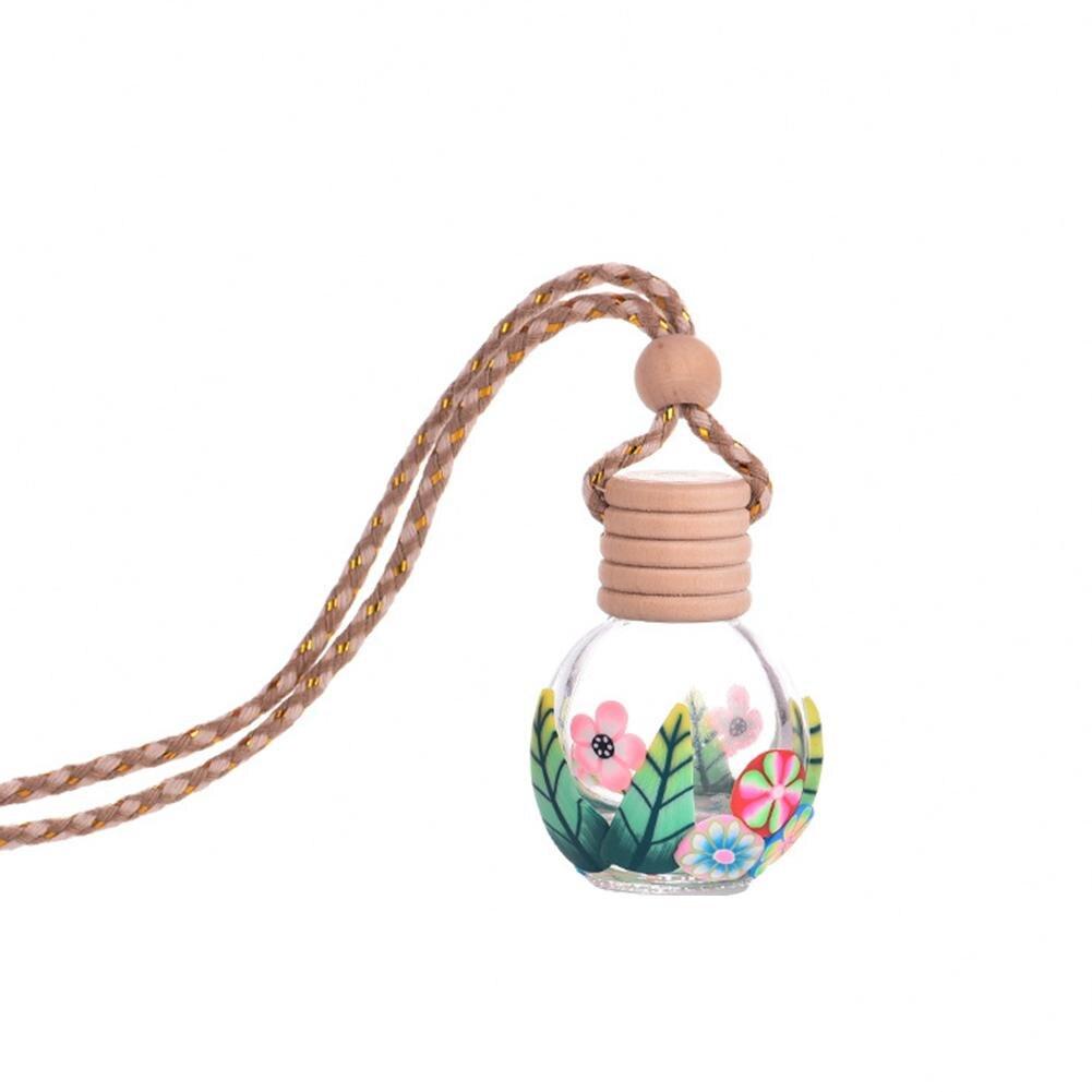 Hause Auto Hängen Lufterfrischer Parfüm Duft Blume Drucken Leere Glas Flasche