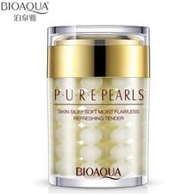 BIOAQUA marque crème pour le visage Pure perle Essence acide hyaluronique crème hydratante soins de la peau Anti-rides blanchissant crème masque 60g
