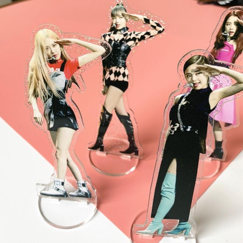 Kpop BLACKPINK LISA Transparent Acrylic Desk Stand Board Decor