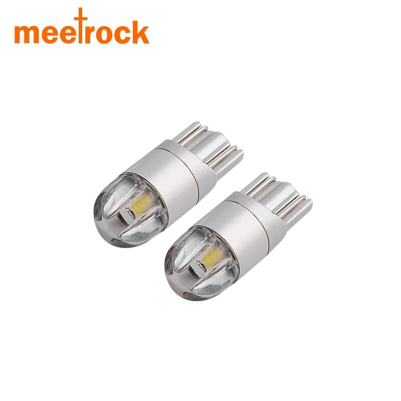 Meetrock 2 pcs T10 LED car light SMD 3030 marker lamp w5w 194 501 bulb wedge parking dome light auto car styling 12v 24v