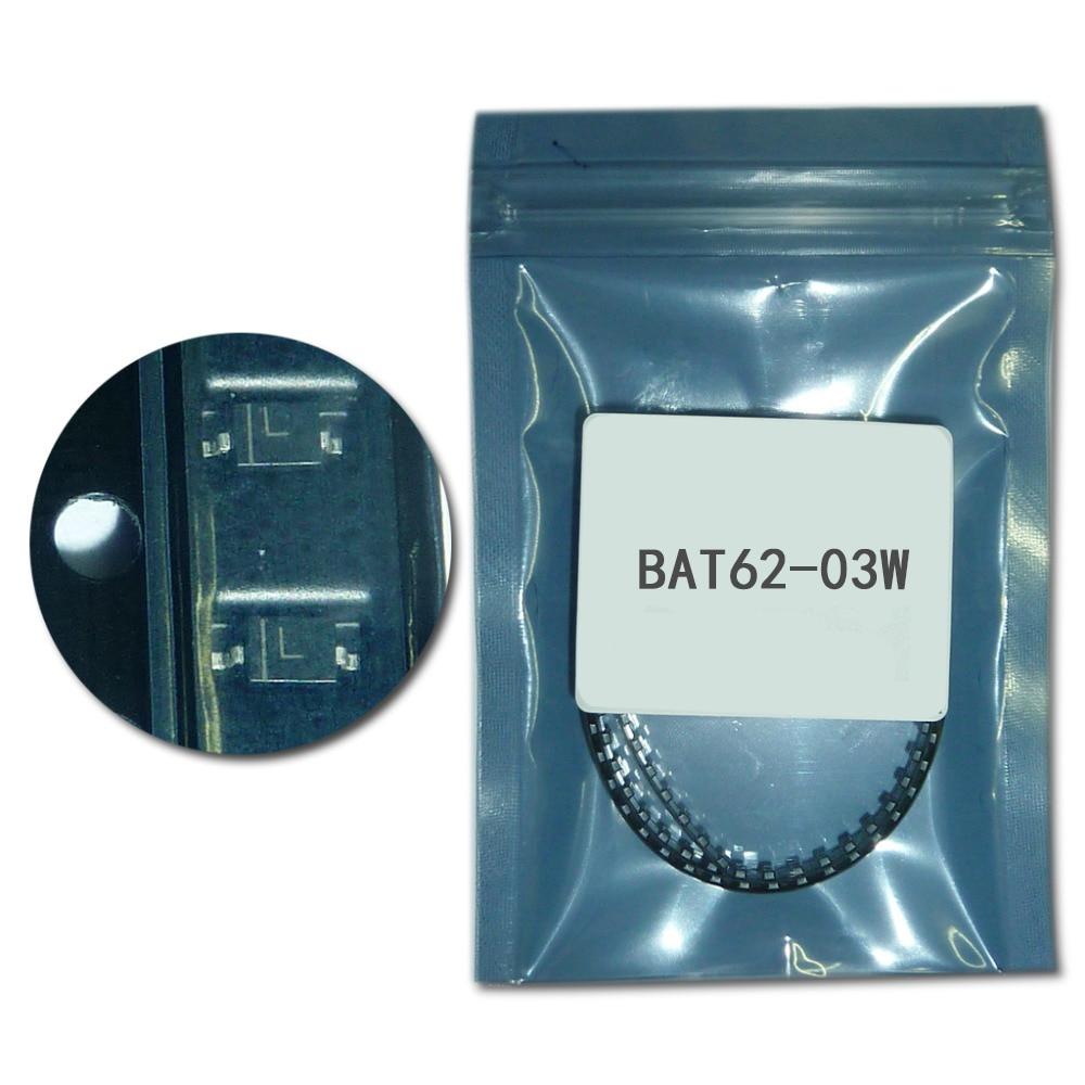 10pcs/lot BAT62-03W Schottky Barrier Diodes 40V 20mA 580mV/0.58V SOD323/SC-76/USC/0805 marking L Low barrier diode for detectors 10pcs sr5100 schottky diode