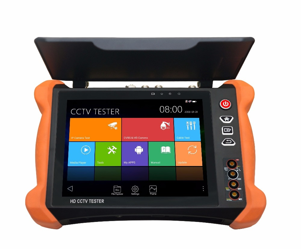 X9 series 8-inch fullest function cctv camera tester with ONVIF 4 channels testing,2048*1536 resolution with cctv camera system enlarge