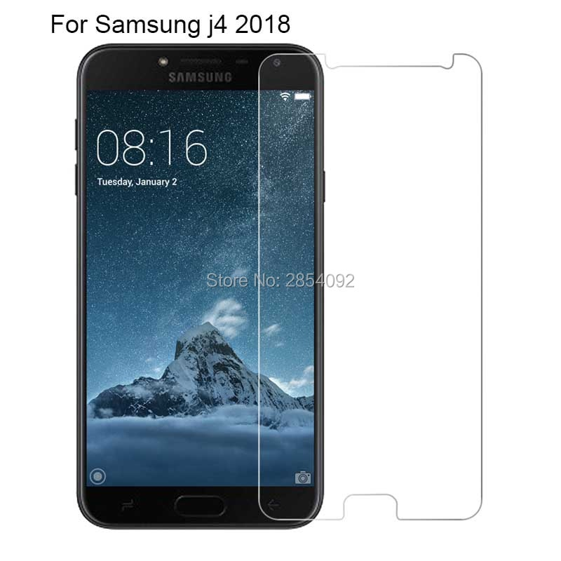2.5D 0.26mm 9H Front Tempered Glass For Samsung Galaxy J4 2018 Screen Protector protective film For