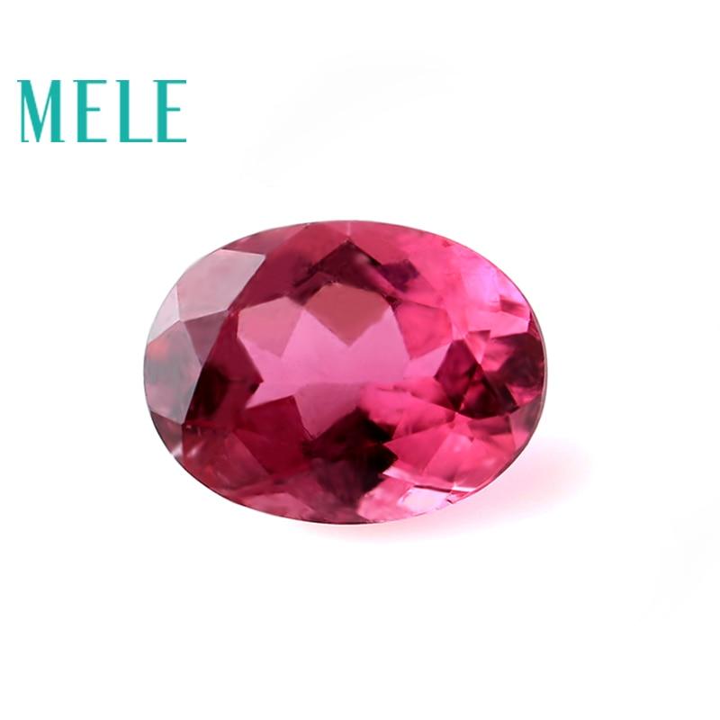 الطبيعية الرائعة الأحمر التورمالين جوهرة حجر فضفاض 6mmX8mm البيضاوي قطع لصنع المجوهرات ، عالية الجودة مصمم الحجر