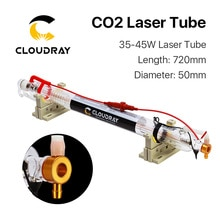 Cloudray 40W Co2 Laser Verbesserte Metall Kopf Rohr 700MM Glas Rohr Lampe für CO2 Laser Gravur Schneiden Maschine