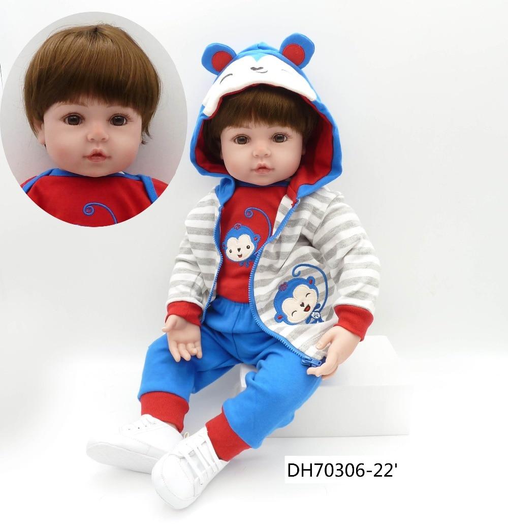 Cute Boy Doll Smooth Silicone 22 * 55cm Real Birthday Christmas Gift