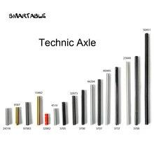 Smartable técnica eixo moc peças bloco de construção brinquedo compatível todas as marcas técnica 32062/4519/3706/3707/3708/6587/24316/87083 brinquedo