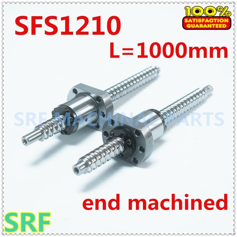 برغي كروي عالي الجودة ، 12 مللي متر Dia SFS1210 ، L = 1000 مللي متر C7 مع SFS1210 ، معالجة نهاية صامولة كروية لأجزاء CNC